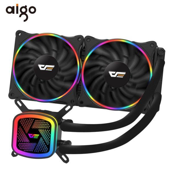 Aigo PC Case Water Cooling Computer CPU Cooler RGB Water Cooler Heatsink Integrated CPU Cooling Radiator LGA 1151/2011/AM3+/AM4
