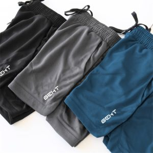 Shorts Men Fitness Bodybuilding Summer Gyms Workout Breathable Mesh Quick Dry Sportswear Jogger Beach