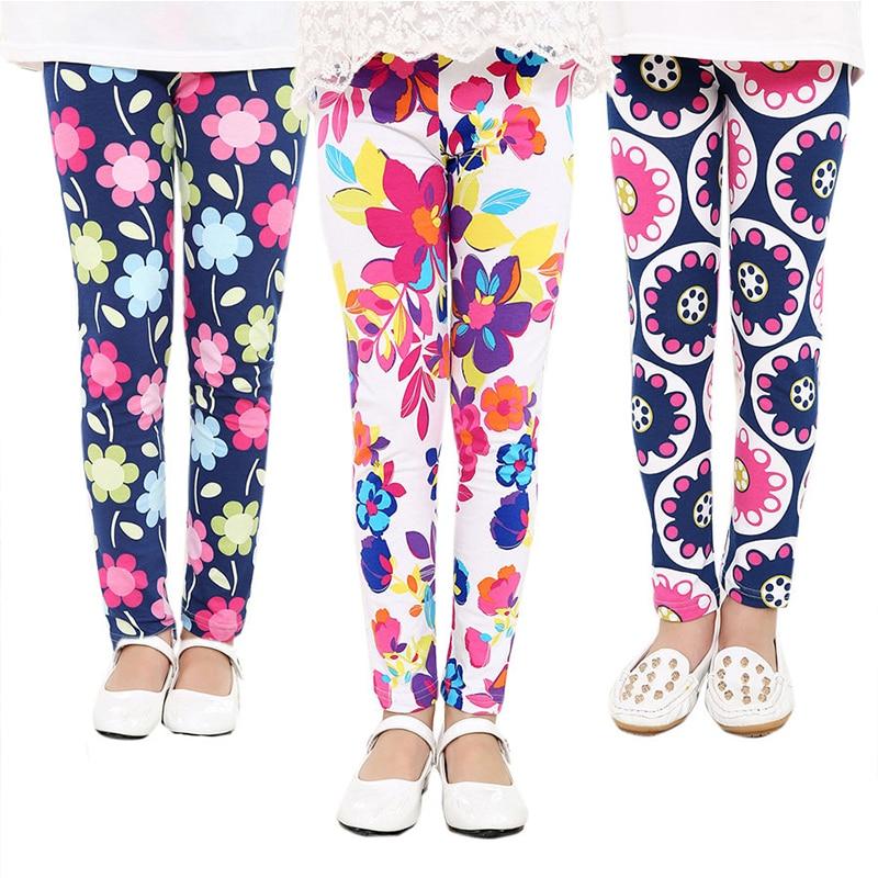 HIPAC Children Legging for Teenage Girls Leggings Kids Elastic Pants Thin Kid Teens Clothing Baby Girl Pattern Bottom Clothes