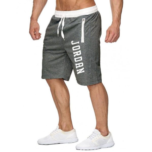 Knee Length Shorts Color Patchwork Joggers Trousers Bermuda