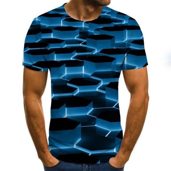 Summer Three-dimensional 3D vortex T-shirt Men Women Fashion 3D T Shirt Short Sleeve Harajuku Hip Hop Cute Tshirt