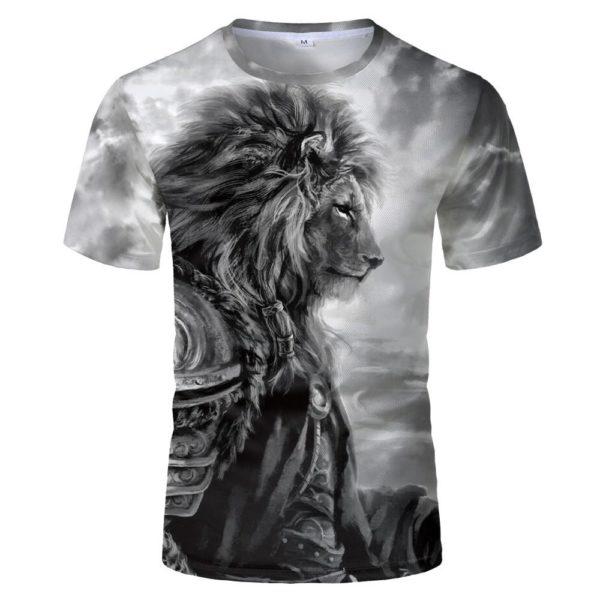 T-shirt Lion Pattern, Eye-catching
