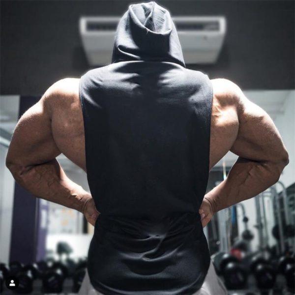 Hooded Tank Top Cotton Sleeveless Vest Sweatshirt Tops