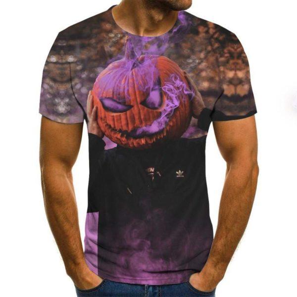 Various Horror Print Men Short Sleeve T-shirt 3D printed