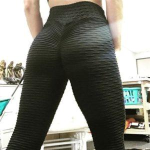 CHRLEISURE Woman Push Up Leggings Women Fitness Pants High Waist Sport Leggings Anti Cellulite Leggings Workout Black Ladies