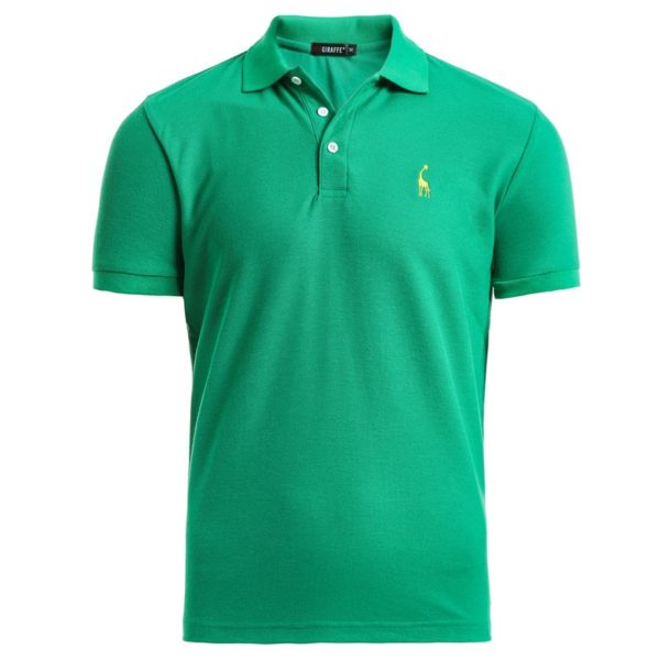 NEGIZBER New Man Polo Shirt Mens Casual Deer Embroidery Cotton Polo shirt Men Short Sleeve High Quantity polo men
