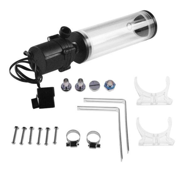 PC Water Cooling Circulation Pump & Pump Tank G1/4 Thread XHC8+160mm