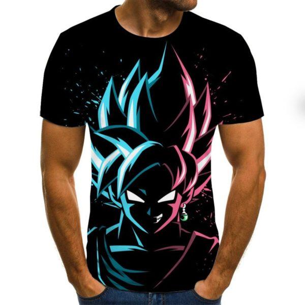 Anime Summer 3D Print Tee Tops Casual T Shirt