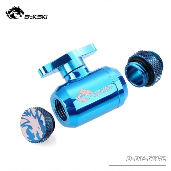 Water Valve Switch Kit Double Inner G1/4 Thread Double Female For Water Cooling System / Switch+Glug+Male to Male Fitting
