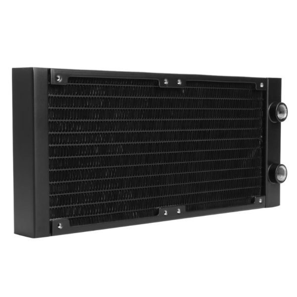PC Water Cooler Heat Radiator Exchanger 240mm 18 Tube Straight G1/4 Thread