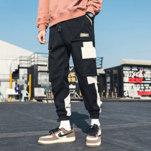 Streetwear Men's Multi Pockets Cargo Track Pants Casual Trousers Fashion