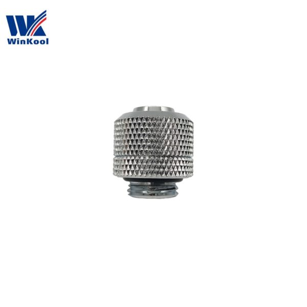 "PC Water Cooling Compression Fittings (8pcs/lot) 3/8""ID X 1/2""OD (9.5 X 12.7mm tubing) G1/4"" thread"