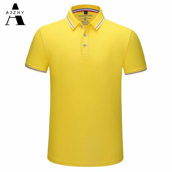 Casual Cotton Polo Shirt Men Fashion Solid Color Breathable Golf Jersey Tops