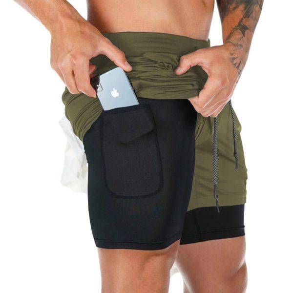 2020 Summer Running Shorts Men 2 in 1 Sports Jogging Fitness Shorts Training Quick Dry Mens Gym Men Shorts Sport gym Short Pants