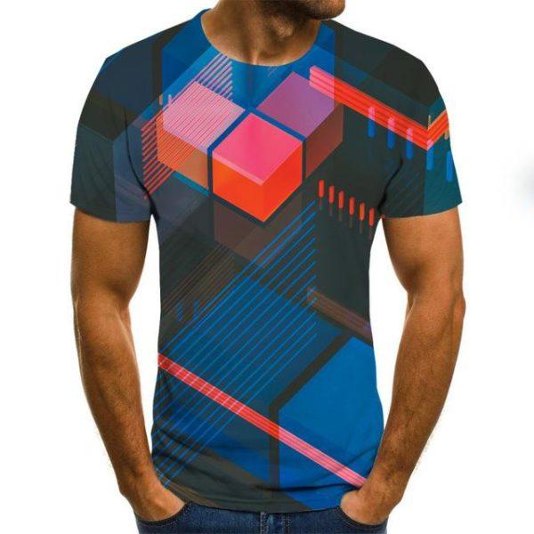 Summer Three-dimensional 3D vortex T-shirt Short Sleeve