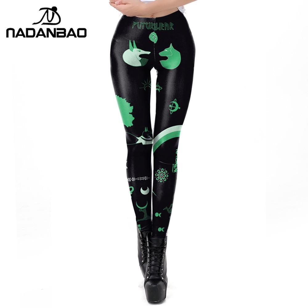 NADANBAO 2020 Spring Women Leggings For Fitness Slim Elastic 3D Printed Animal Gothic Leggin Workout Streetwear Legins Plus Size