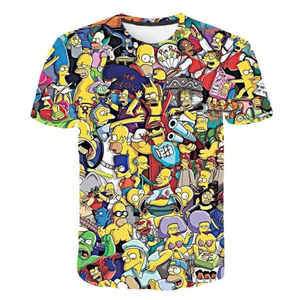 The Simpsons 3d Print T Shirt