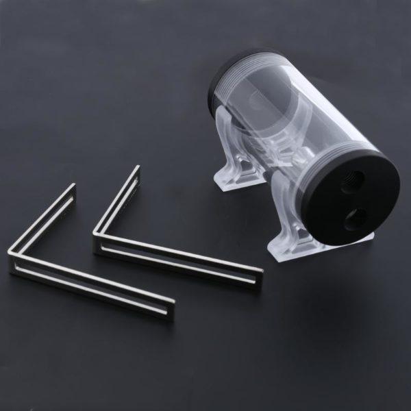 PC Water Cooler Reservoir Cylinder Tank 50mm Diameter G1/4 Thread