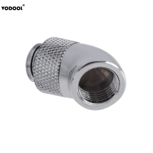 PC Water Cooling Fittings Brass G1/4 Screw Thread 45 Degree Elbow Rotary Brass Adapter Male to Female Connector