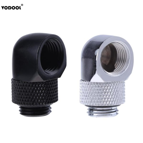 PC Water Cooling Tube Adapter G1/4 Inner Outer Dual Thread 90 Degree Rotary Connector