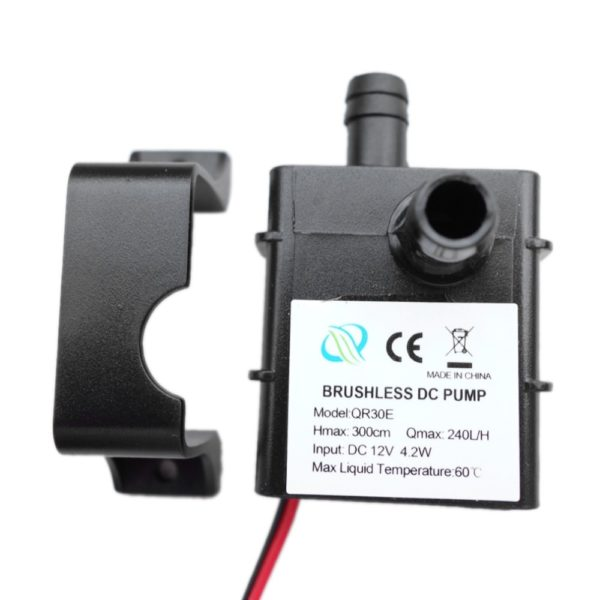 PC High Performance Water Cooling Circulation Brushless Water Pump QR30E DC 12V 4.2W 240L/H
