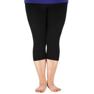 AZUE Women Elastic Waist Casual Leggings Bamboo Fiber Plus Size Women Legging High Stretch Leggings Basic Pants Workout Leggings