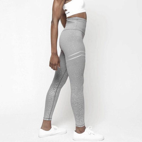 NORMOV New Hotsale Women Gold Print Leggings No Transparent Exercise Fitness Leggings Push Up Workout Female Pants