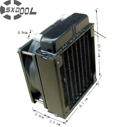 PC Water Cooling Aluminium Radiator with 80mm Fan