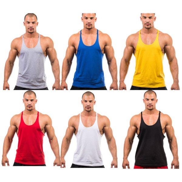 7 Colors Men Tank Top Men Stringer Tank Top Fitness Singlet Sleeveless Shirt Workout Man Undershirt Clothing New