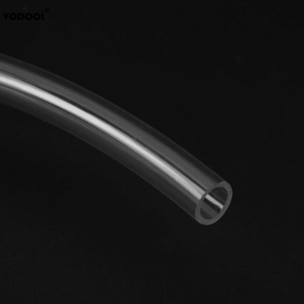 PC Water Cooling PVC Soft Pipe 2m/6.56FT 9.5X12.7mm Transparent