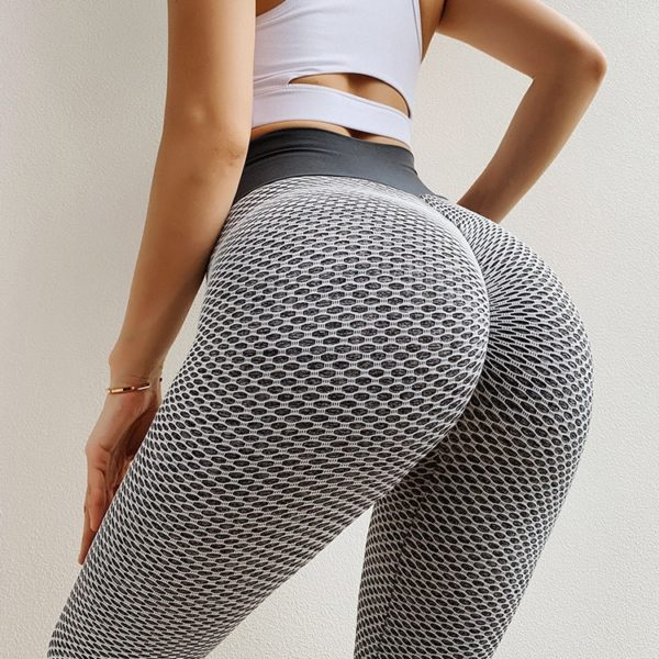 NORMOV Seamless Fitness Women Leggings Fashion Patchwork Print High Waist Elastic Push Up Ankle Length Polyester Leggings
