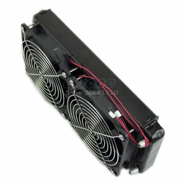 PC Water Cooler Heat Radiator Exchanger x2 240mm Fans