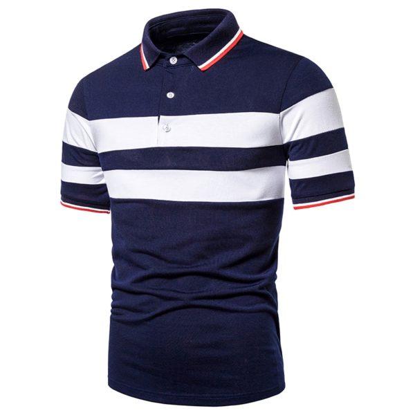 Men Polo Men Shirt Contrast Color Casual Fashion Tops