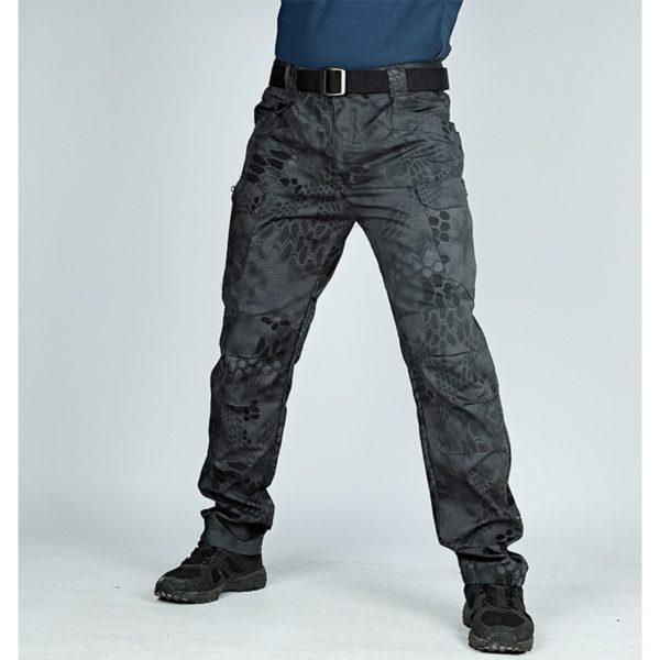 Mens Cargo Pants Elastic Multiple Pocket Trousers Outdoor Tactical Pants Men