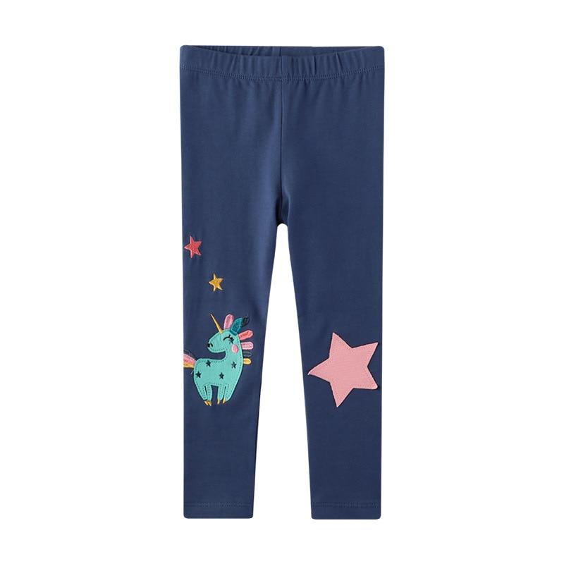 Girls Leggings 100% Cotton Boy's Trousers Fille Kids Pants Girls Pants Skinny Print Cartoon Pattern Children Leggings Trousers
