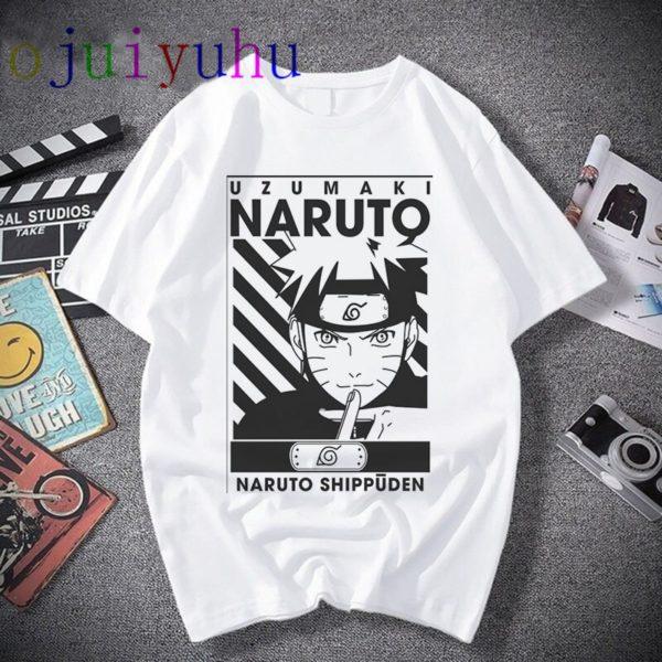 Naruto Fashion Japanese Anime T Shirt Men Sasuke Funny Cartoon T-shirt Casual Cool Streetwear Tshirt Couple Hip Hop Top Tee Male