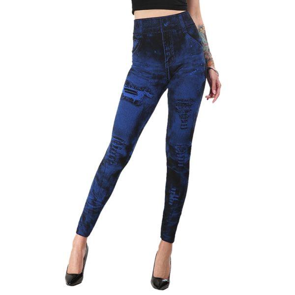 Leggings High Waist Slim Elastic Seamless Skinny Jeans Immitation