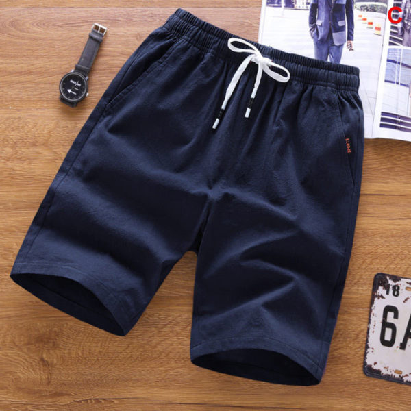 Summer Men's Shorts Casual Loose Cropped Trousers Loose Knit Straight Casual